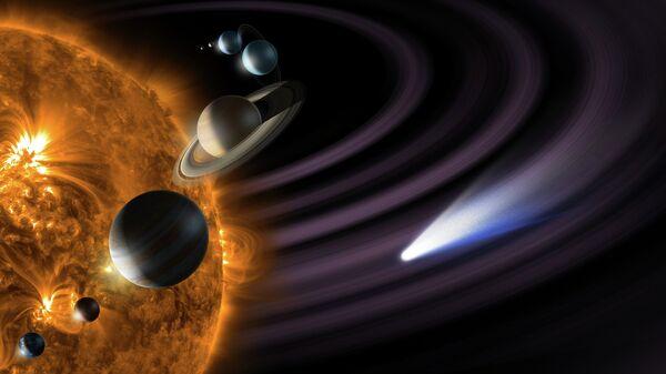 Макет Солнечной системы, архивное фото