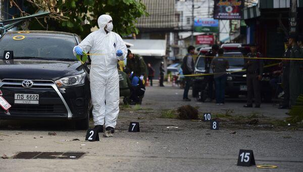 Криминалист на места взрыва в Хуахине, Таиланд