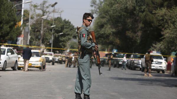 Полицейский в Кабуле. Архивное фото
