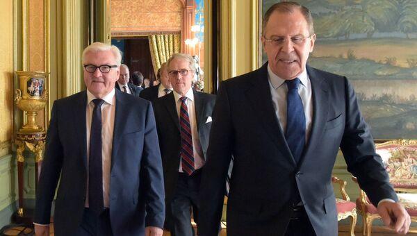 Встреча глав МИД РФ и Германии Сергея Лаврова и Франка-Вальтера Штайнмайера в Москве. Март 2016 года