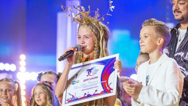 София Фисенко ставшая победителем российского национального отбора Детское Евровидение-2016