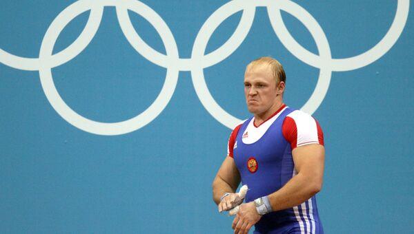 Российский тяжелоатлет Андрей Деманов. Архивное фото