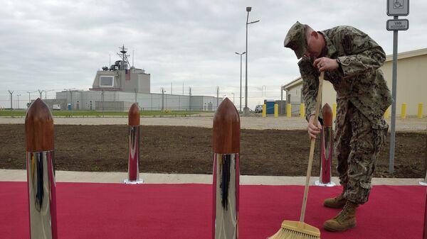Американский военный на территории румынской военной базы в Девеселу. 2016 год. Архивное фото