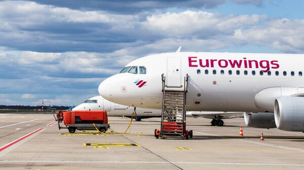 Самолет авиакомпании Eurowings. Архивное фото