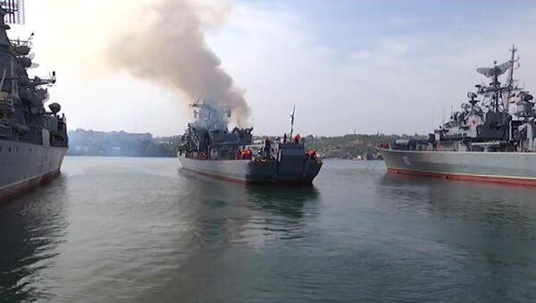 Выход в море кораблей Черноморского флота