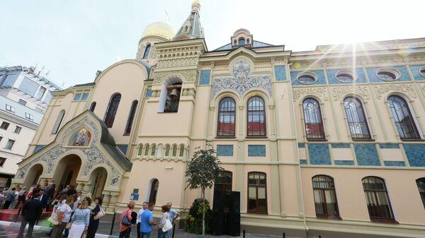 Открытие после реставрации здания исторического корпуса РЭУ им. Г.В. Плеханова и домового храма. 30 августа 2016