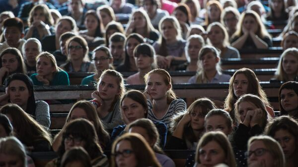 Студенты Московского Государственного педагогического университета. Архивное фото