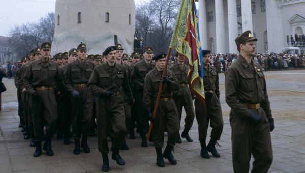 Военные литовской армии. Архивное фото