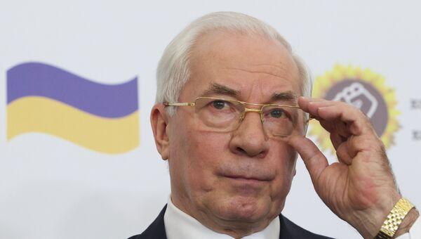 Экс-премьер Украины Азаров. Архивное фото
