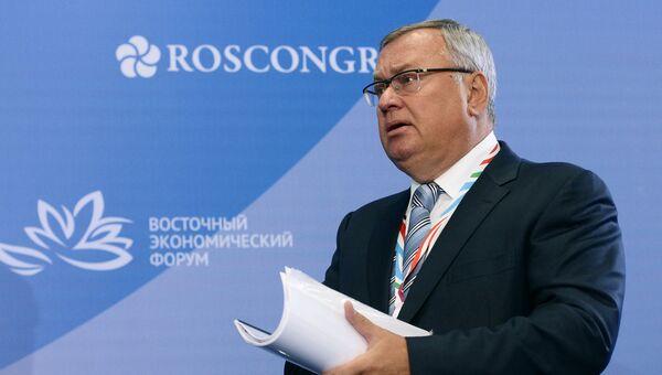Президент - председатель правления банка ВТБ Андрей Костин на Восточном экономическом форуме во Владивостоке