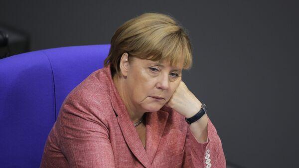 Канцлер Германии Ангела Меркель во время заседания бундестага в Берлине. 6 сентября 2016