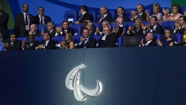 Президент Международного паралимпийского комитета Филипп Крейвен на церемонии открытия XV летних Паралимпийских игр 2016 в Рио-де-Жанейро