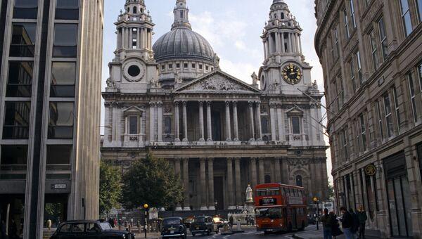 Кафедральный собор святого Павла, построенный на холме Ладгейт. Лондон