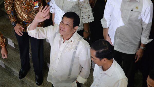 Президент Филиппин Родриго Дутерте в Джакарте. Архивное фото