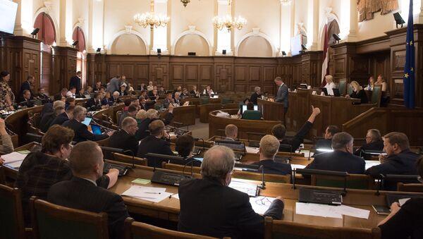 Заседание сейма Латвии. Архивное фото