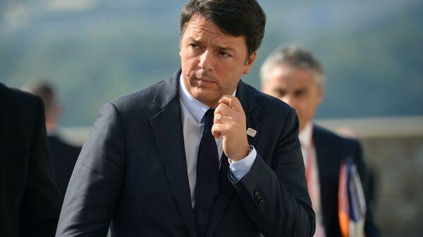 Председатель совета министров Итальянской Республики Маттео Ренци. Архивное фото