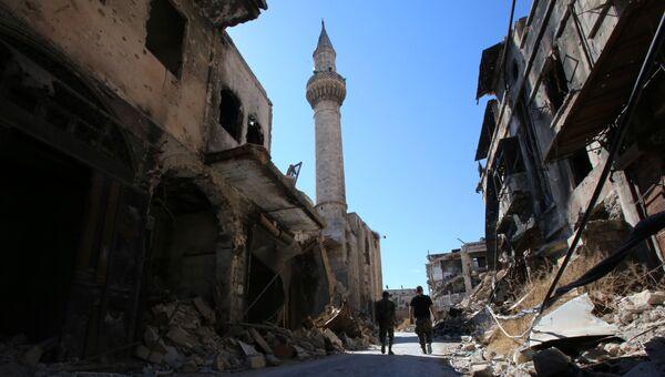 Солдаты сирийской армии в исторической части Алеппо. Сентябрь 2016
