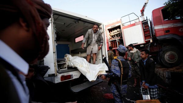 Жертвы авиаудара по траурной процессии в Йемене