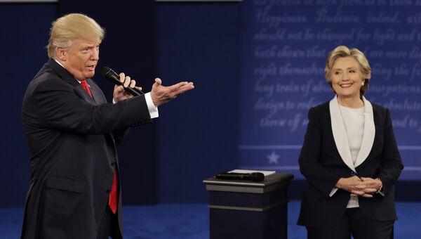 Дональд Трамп и Хиллари Клинтон. Октябрь 2016