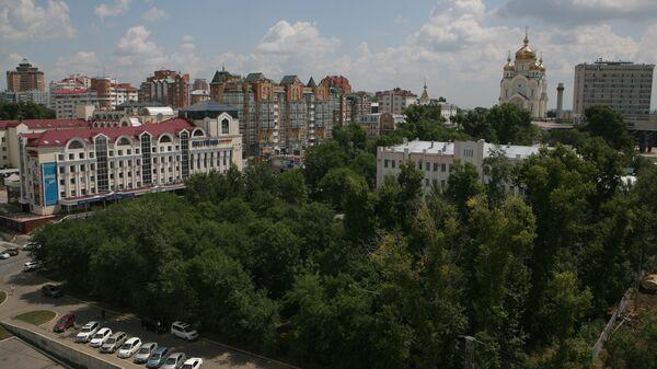 Вид на центральный район Хабаровска
