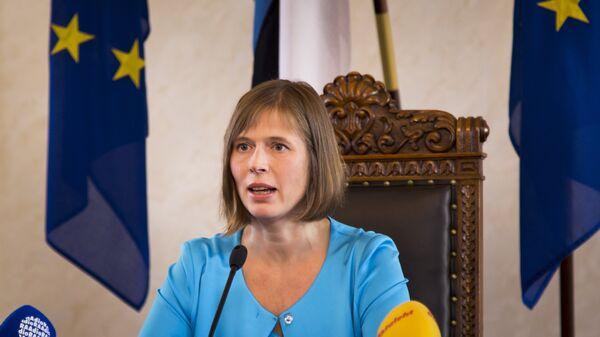 Президент Эстонии Керсти Кальюлайд. Архивное фото