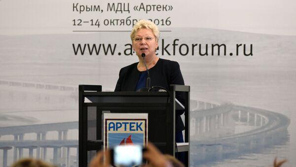 Министр образования РФ Ольга Васильева в детском центре Артек. 13 октября 2016
