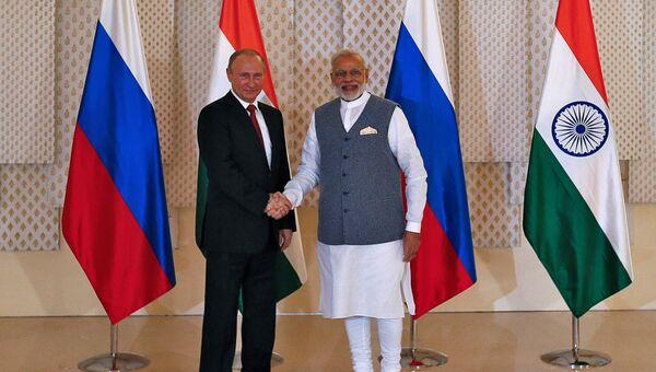Встреча Владимира Путина и Нарендры Моди в Гоа