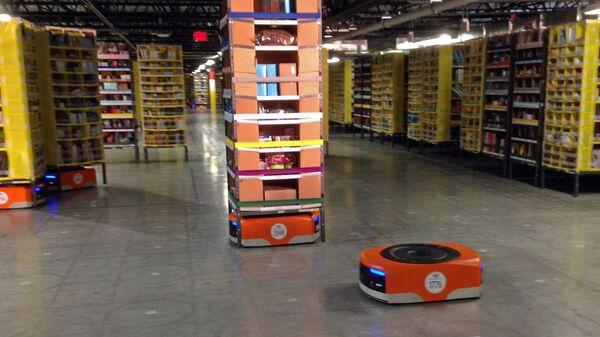 Работа робота на складе Amazon