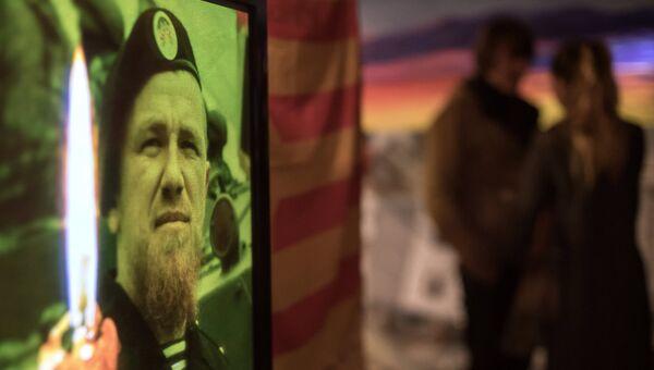 Во время памятного мероприятия, посвященного погибшему командиру ополчения ДНР Арсению Павлову (Моторола). Архивное фото