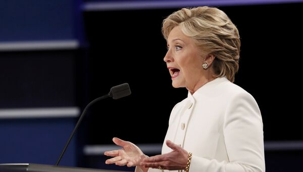 Хиллари Клинтон на третьих теледебатах. 20 октября 2016 год