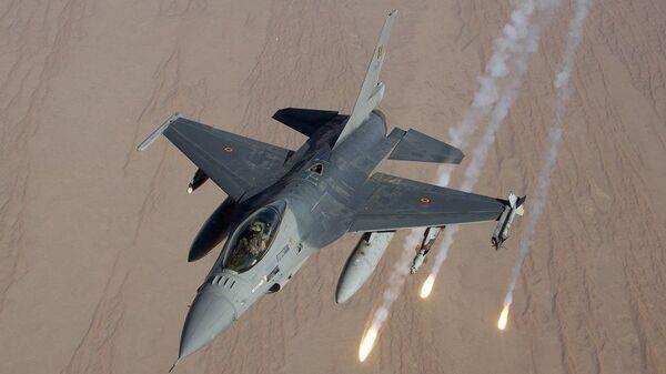 Истребитель F-16 ВВС Бельгии. Архивное фото