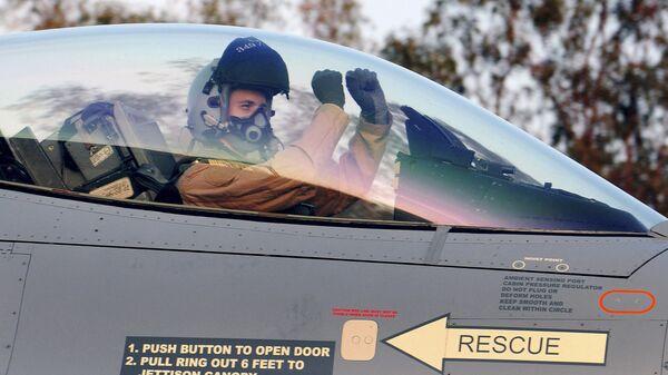 Истребитель F-16 бельгийских ВВС. Архивное фото