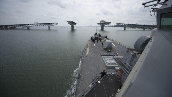 Эсминец ВМС США USS Carney. Архивное фото.