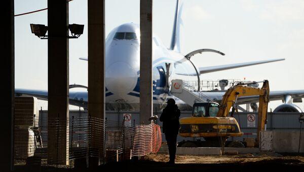 Строительство нового грузового терминала аэропорта Шереметьево. Архивное фото