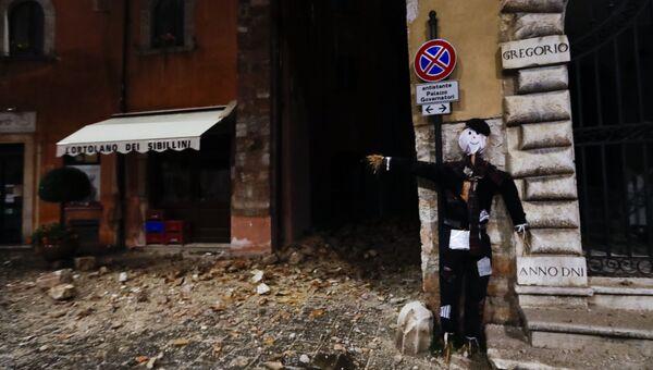 Последствия землетрясения в провинции Мачерата, Италия. 27 октября 2016. Архивное фото