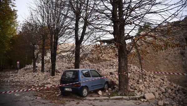 Последствия землетрясения. Норча, Италия. Архивное фото