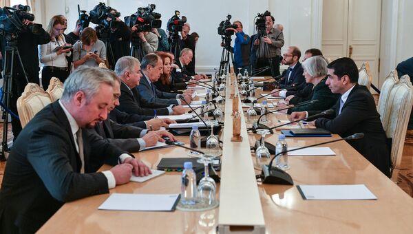 Встреча глав МИД РФ и Кипра Сергея Лаврова и Иоанниса Касулидиса в Москве. 31 октября 2016