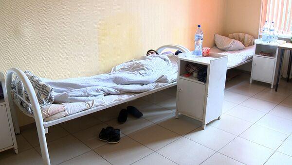 Пациент в Республиканском центре инфекционных болезней в Махачкале. 1 ноября 2016