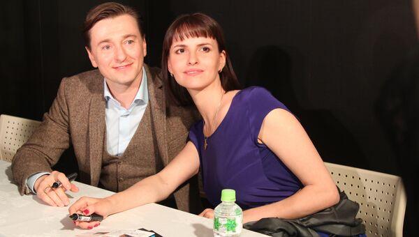 Российский актер Сергей Безруков и режиссер Анна Матисон. Архивное фото