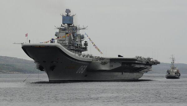 Российский авианесущий крейсер Адмирал Кузнецов. Архивное фото