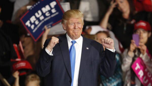 Кандидат в президенты США Дональд Трамп. Ноябрь 2016