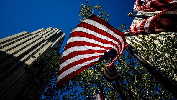 Флаги США. Архивное фото