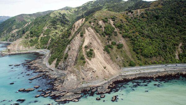 Оползень на Восточном побережье Новой Зеландии