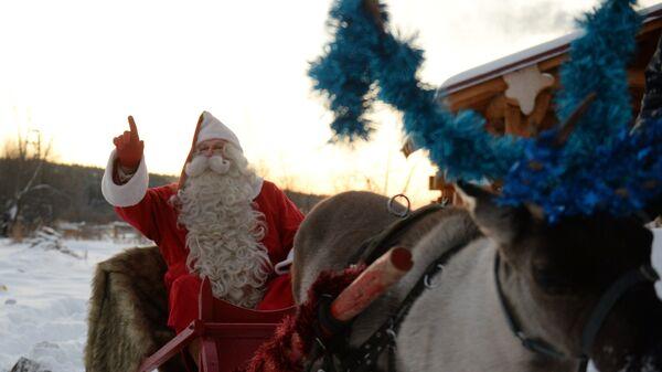 Финский Санта-Клаус Йоулупукки в поселке Мельзавод, Екатеринбург