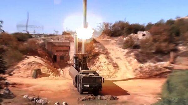 Пуск крылатой ракеты Оникс с БРК Бастион по объектам террористов в Сирии