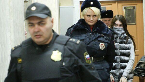 Участница гонки с полицией на машине сына замглавы Лукойла Мара Багдасарян в Савеловском суде Москвы. 18 ноября 2016
