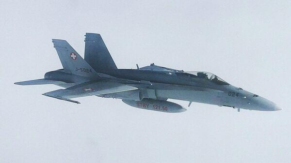 Швейцарский истребитель, сопровождавший летевший на АТЭС борт с делегацией РФ