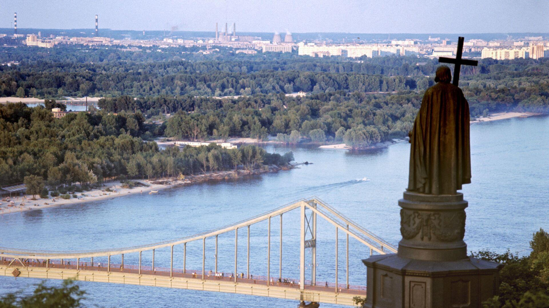 Вид из парка Владимирская горка на реку Днепр. Киев - РИА Новости, 1920, 09.10.2020