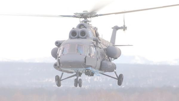 Тестовый полет первого арктического вертолета Ми-8АМТШ-ВА в Улан-Удэ