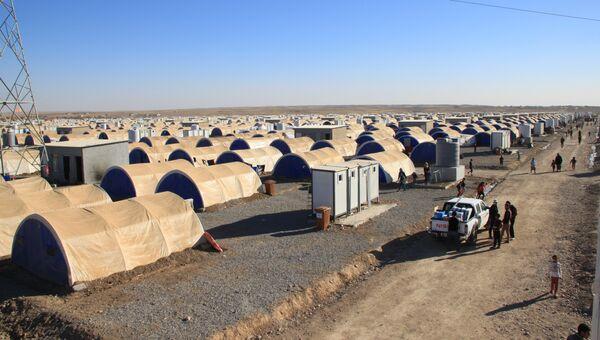 Лагерь беженцев из иракского Мосула - эль-Хазер. Архивное фото